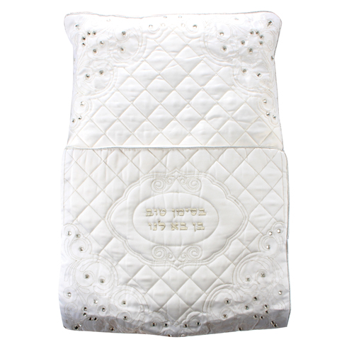 Elegant Satin Bris Pillow Laid With Stones 70x50 Cm