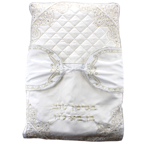 Elegant Satin Bris Pillow Laid With Stones - Thick Embroidery 70x50 Cm
