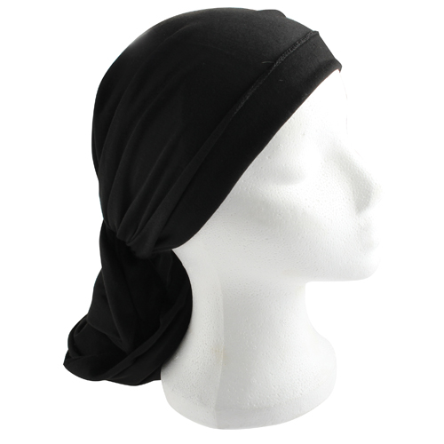 Cloth Head Scarf  200*40 Cm- Black
