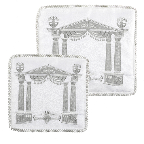 C Talit- Tefilin Set 29x36 Cm- White With Thick Embroidery