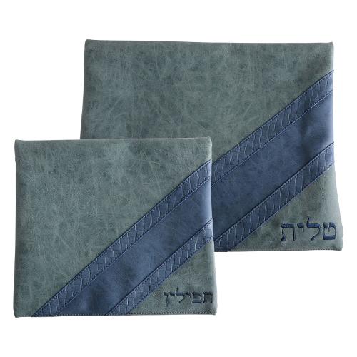 Faux Leather Talit - Tefilin Set 36*29 Cm