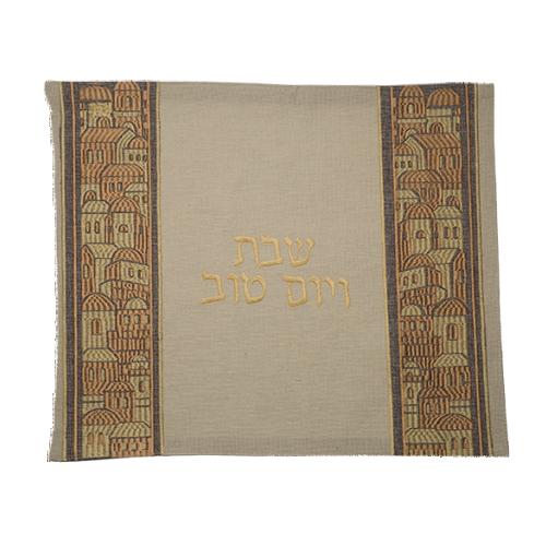 Linen Challah Cover 42x49 Cm