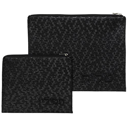 Luxurious Faux Leather Tallit & Tefillin Set 29x36 Cm