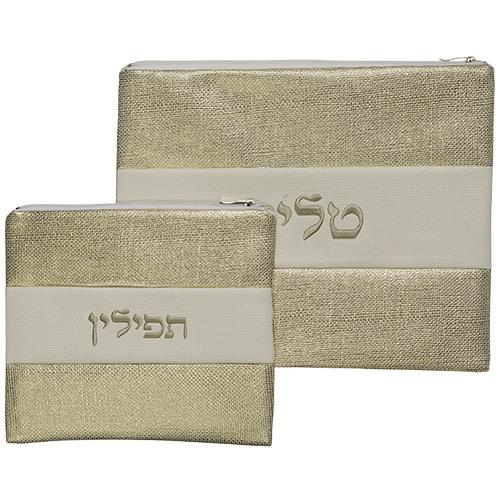 Leather Like Talit - Tefilin Set 36*29 Cm