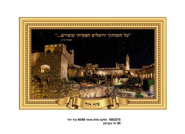 3d Poster 68*45 Cm- City Of David