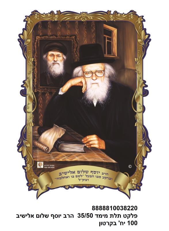 3d Poster 35*50 Cm- Rabbi Yosef Shalom Elyashiv
