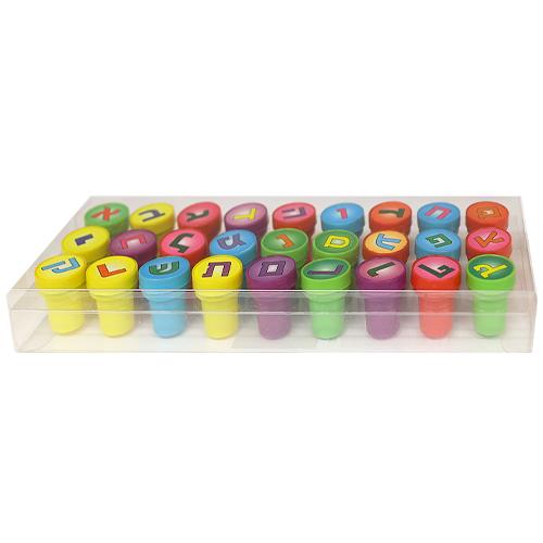 Plastic 27 Pcs. Aleph- Bet Stamps 3 Cm