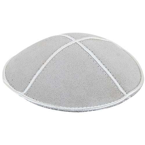 Suede Kippah 13 Cm- Off-white