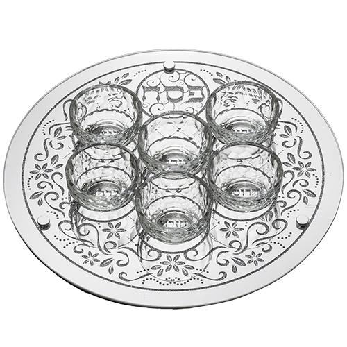 Glass Pesach Plate 36 Cm