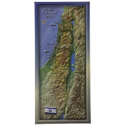 Israel Map 22.5x10