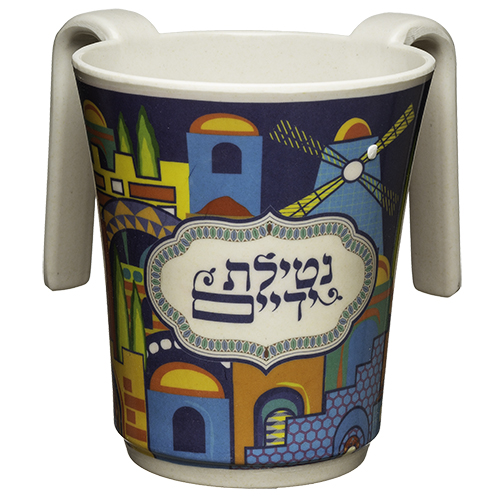 Melamine Washing Cup 14 Cm With Colorful Printing