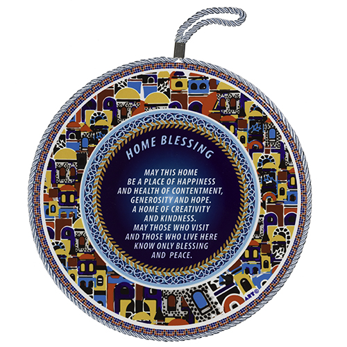 Ceramic Decoration Plate 25 Cm- English Home Blessing