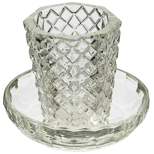 Crystal Wine Cup With Plate