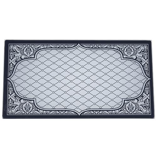 Reinforced Glass Hanukkah Tray 20x37 Cm