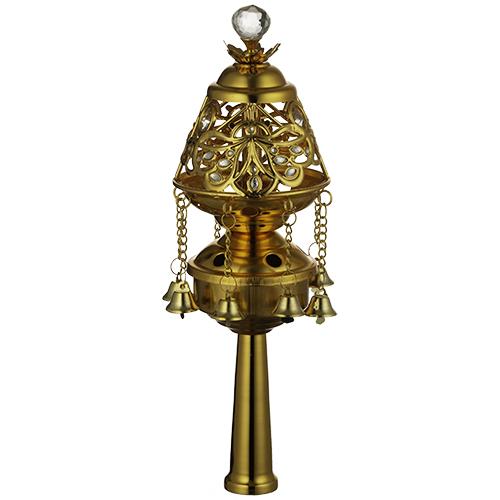 Pair Of Rimonim For Torah 26 Cm- Golden