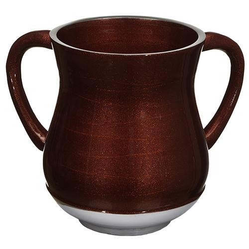 Aluminium Washing Cup 13 Cm With Glitter - Dark Red