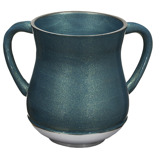 Aluminium Washing Cup 13 Cm With Glitter - Light Blue