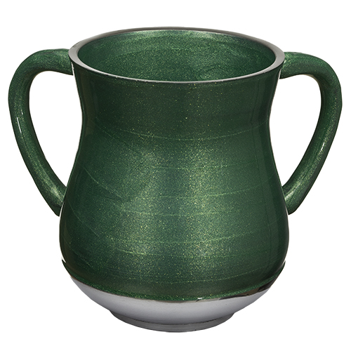 Aluminium Washing Cup 13 Cm With Glitter - Green