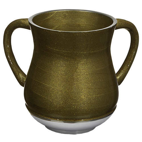 Aluminium Washing Cup 13 Cm With Glitter - Gold