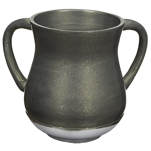Aluminium Washing Cup 13 Cm With Glitter - Silver Pearl