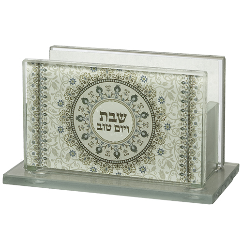 Glass Matches Holder 7*5 Cm With Print- Candle Lighting