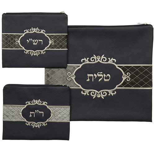 Talit & Tefilin Rashi 3 Pc. Set 43*39 Cm- Blue