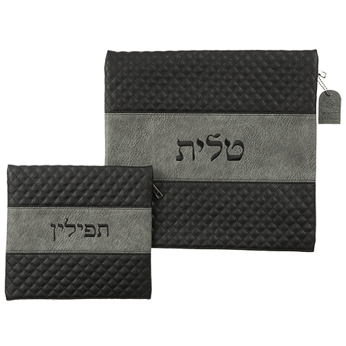 Leather Like Talit - Tefilin Set 36*33 Cm- American Size