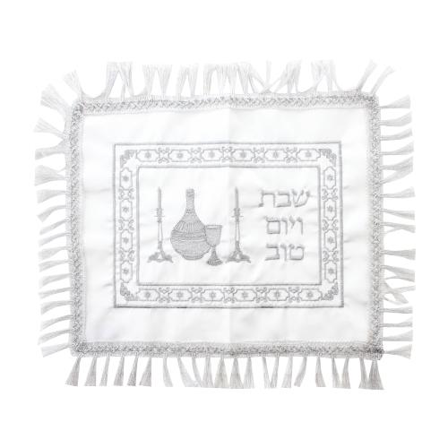 Satin Challah Cover - Candlestick
