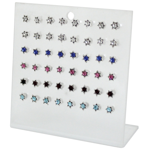 Set Of Earrings- Star Of David With Stone  (24)