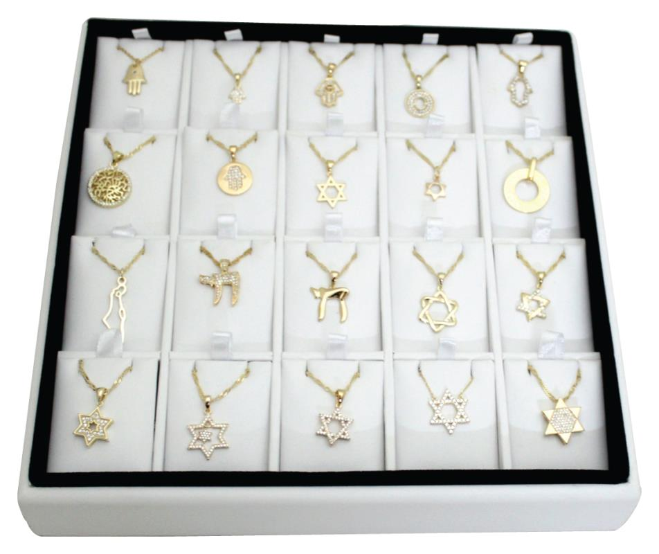 Full Stand - 20 Assorted Pendants With Chain