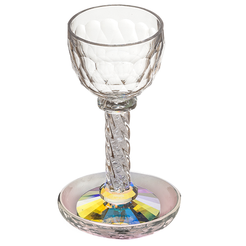 Crystal Kiddush Cup 18.5 Cm - Colorful