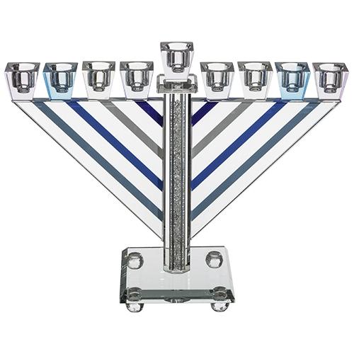 Crystal Elegant Hanukkiah - Colorful 21 Cm