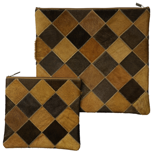 Leather Like Talit Tefilin Set 36*33cm- Brown