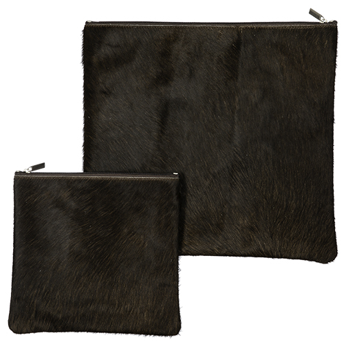 Leather Like Talit Tefilin Set 36*33cm- Black