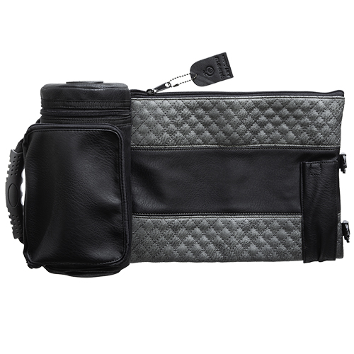 "Leather- Like Thermal Tefillin & Tallit Protector Container ""tik-taf"" 22 Cm- Black & Gray"