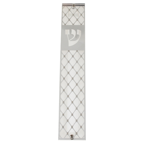 Perspex Mezuzah 12 Cm With Metal Plate