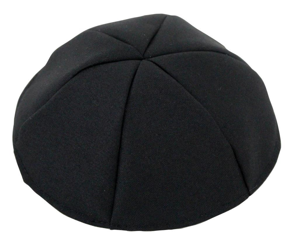 Black Terylene Kippah 25cm- #8