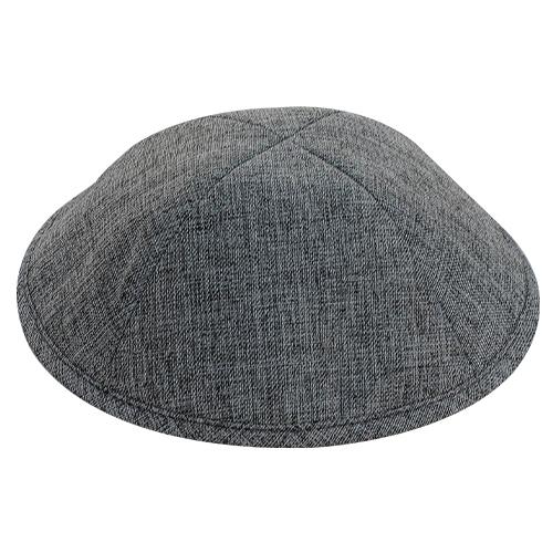 Linen Elegant Kippah Dark Gray Size 3 18.5cm
