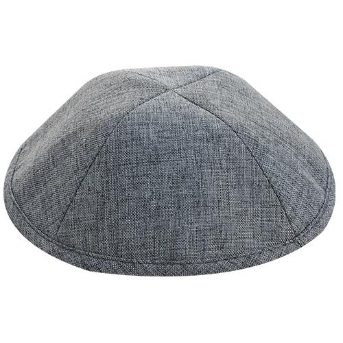 Fabric Elegant Kippah Gray Size 4 19 Cm