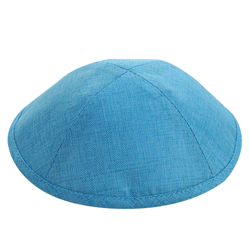 Fabric Elegant Kippah Light Blue Size 2 17.5 Cm