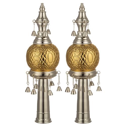 Metal Rimonim For Torah 32 Cm