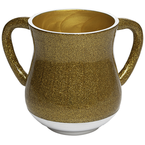 Aluminum Washing Cup 13 Cm - Gold Glitter