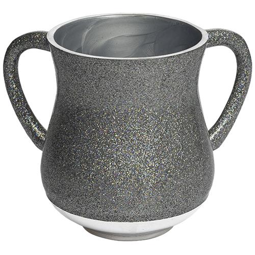 Aluminum Washing Cup 13 Cm - Silver Glitter
