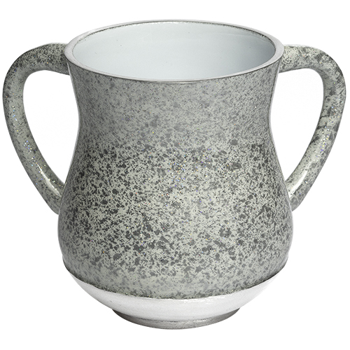 Aluminum Washing Cup 13 Cm - Silver Glitter