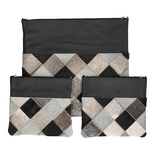 Leather Talit & Tefilin Rashi 3 Pc. Set 41*38 Cm